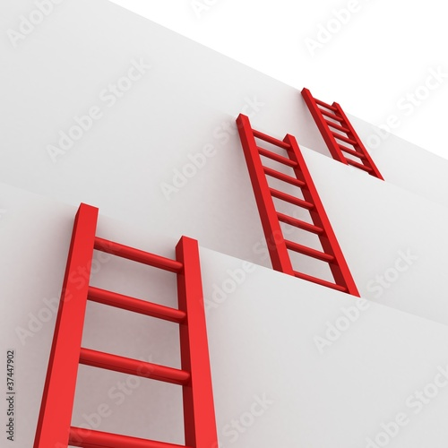 ladders of success business teamwork
