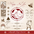 Christmas and New Year. decorative vector set