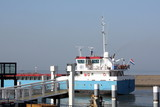 A boat at the pieri n Harlingen in the Netherlands