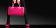 fashionable woman with a pink bag,fashion photo