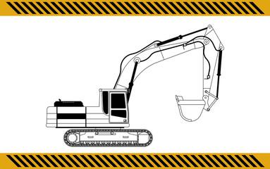 excavator construction machinery equipment isolated