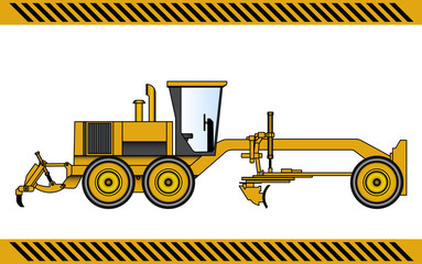 Motor Grader construction machinery equipment isolated
