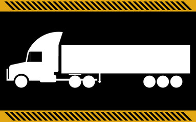 Semi truck, isolated