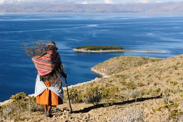 Titicaca lake, Bolivia, Isla del Sol landscape