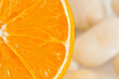 Orange slice closeup