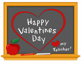 Happy Valentines Day, Love My Teacher Blackboard