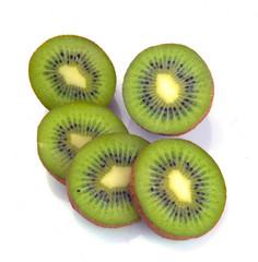 ripe kiwi segment