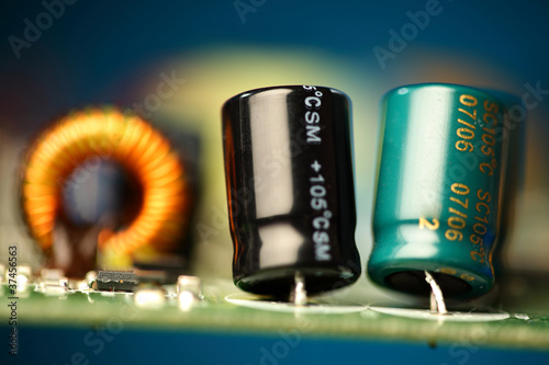 canvas print picture printed circuit board with electronic components