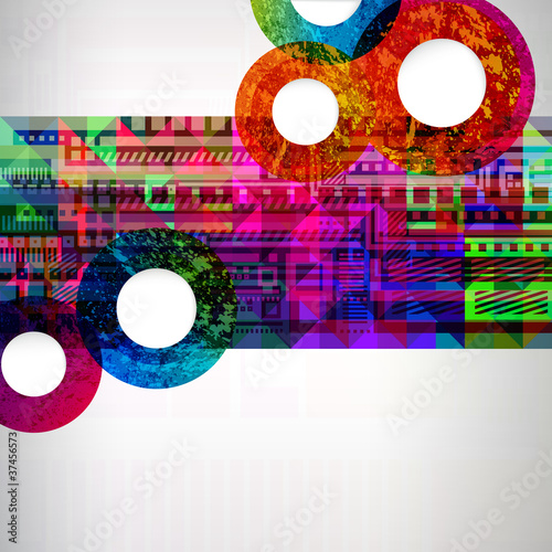 Colorfull abstract design background.