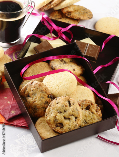 cookies in gift box