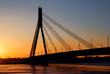 brige in Riga at the sunset