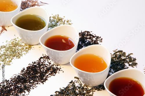 Leinwandbild Motiv Verschiedene Teesorten