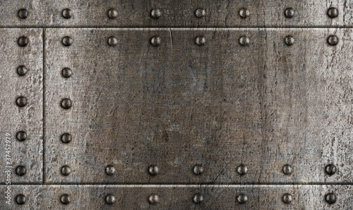 armour metal background with rivets