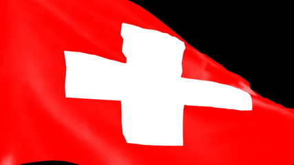 Bandiera svizzera al vento - Swiss flag in the wind