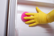 Hand cleaning refrigerator.