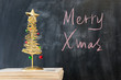 Chalkboard writing - Merry Christmas