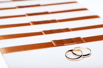 Ivory wedding invitations with rings