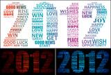 2012 wishes typographic design poster