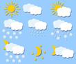 Бумага иконки Векторный погоды