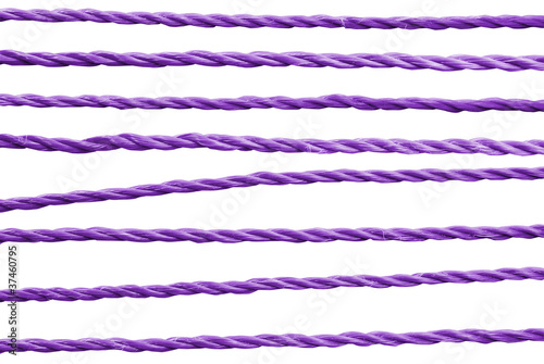 Purple rope.