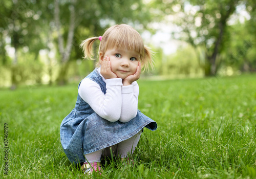 Portrait of a little girl outdoors