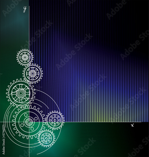 Abstract gears background