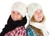 Mädchen mit Schal und Mütze