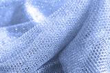 lustrous elegant blue fabric poster