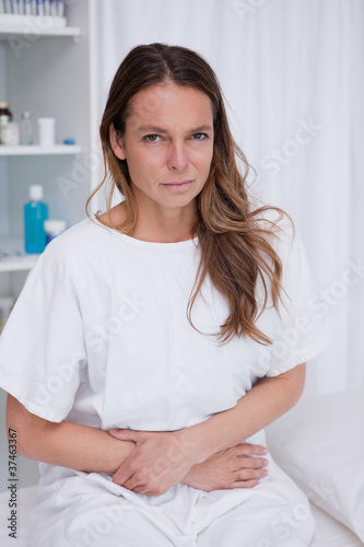 Woman having stomachache