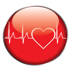 Heart rate button vector