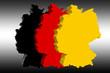 Deutscher Umriss + Flagge 3D