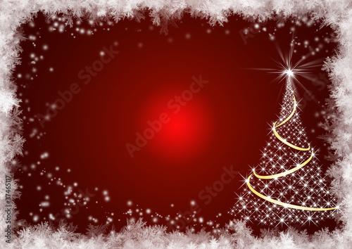 weihnachtlicher rahmen rot mit baum xmas stockfotos. Black Bedroom Furniture Sets. Home Design Ideas