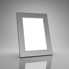 Blank aluminum photo frame