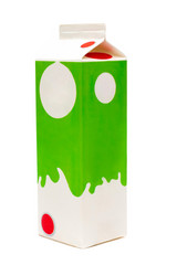 pack carton box packaging of milk isolated on white background