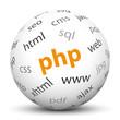 PHP, dynamisch, 3D, Kugel, Client, Server, Begriffe, Webdesign