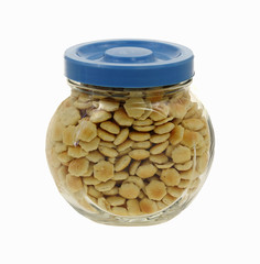 Oyster Crackers Glass Container