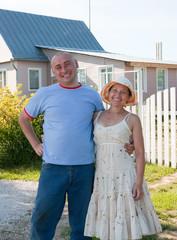 Hospitable   man and  woman