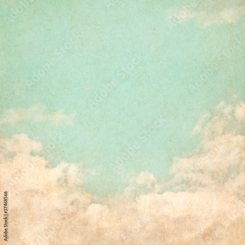 Fotobehang Retro Vintage Grunge Sky