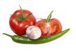 Tomaten mit Knoblauch und Chili