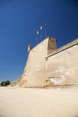 wall with sentry box at Lleida city