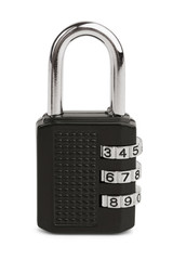 Black rectangular lock code