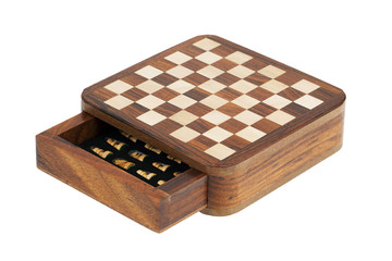Portable pocket chess board