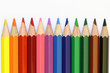 Colored crayons - straight line