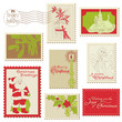 Christmas Vintage Stamp Collection - great set for your design,
