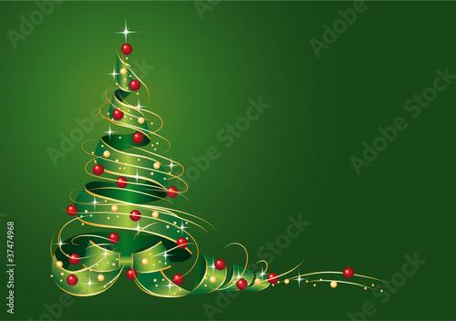 Weihnachtsbaum aus Geschenkschleife - 37474968