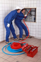 apprentice plumber training on-the-job