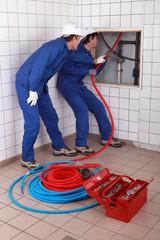 apprentice plumber training on-the-job