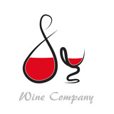 Logo Wine, simple graphics # Vector
