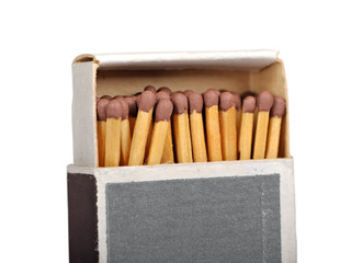 Box of matches isolated