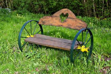 Wheeled bench